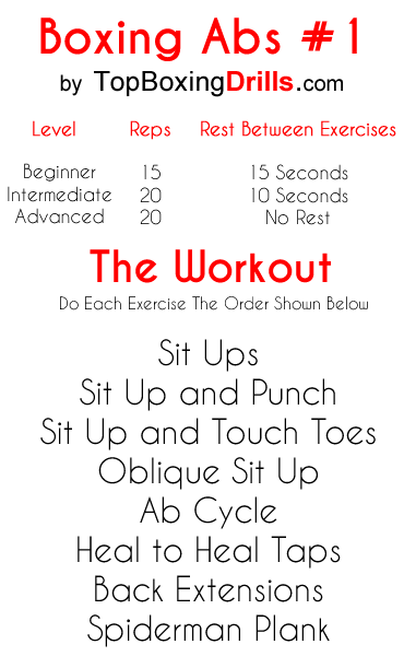 core workout for boxing