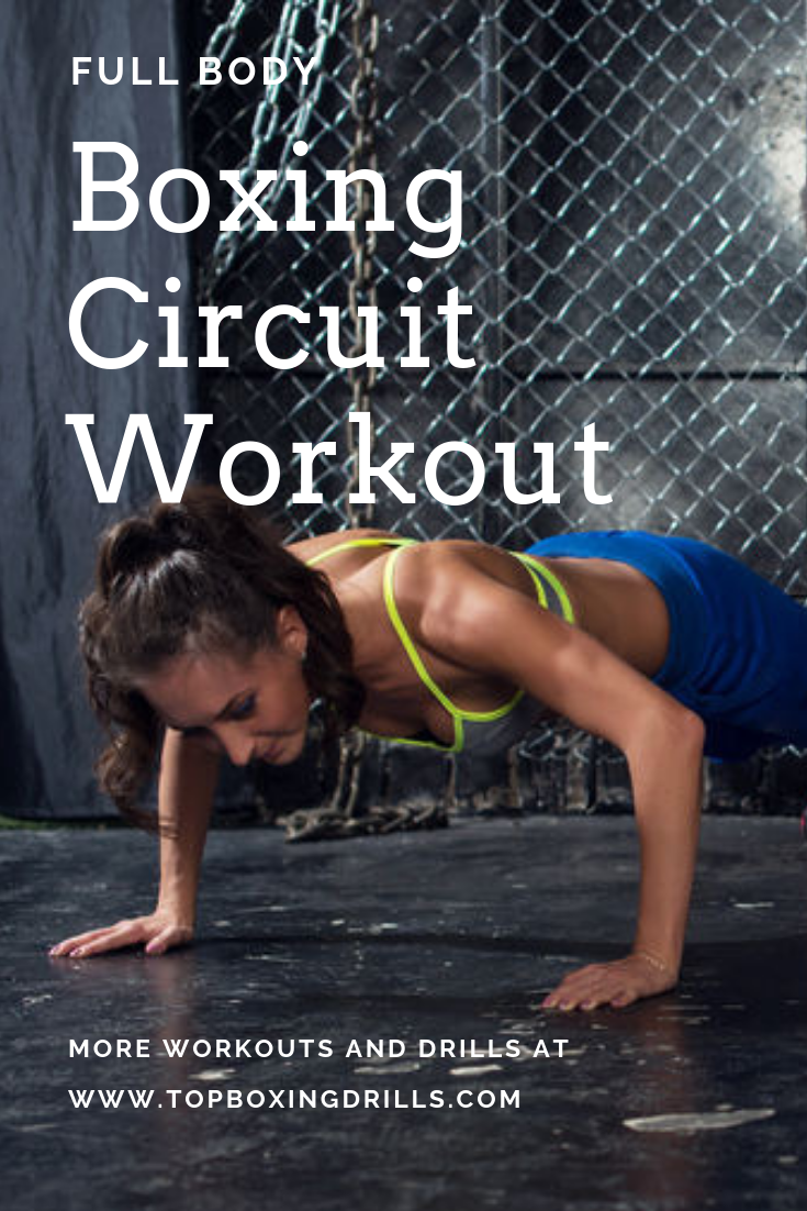 Free full body boxing circuit workout you can do anywhere. This boxing workout routine has lots of boxing exercises.